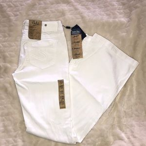 Silver mid flare jeans
